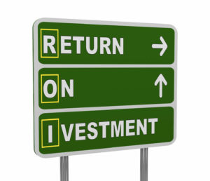 Return on Investment Sign - ROI
