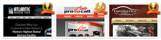 Examples of Award Winning Website Designs from Autoshop Solutions