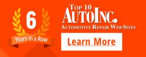Top 10 Auto Repair Site Winner 6 Years in a Row