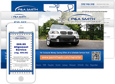Autoshop Solutions' Direct Mail Samples